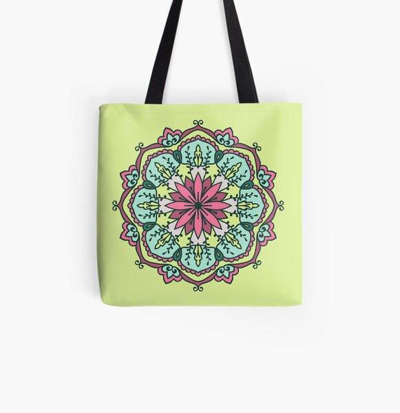 """""""Kreis"""") ist ein spirituelles und rituelles Symbol im Hinduismus und Buddhismus Allover-Print Tote Bag"""