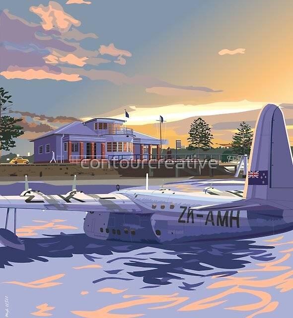 Rose Bay, Sydney and Flying Boat by contourcreative
