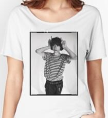 Finn Wolfhard black and white photoshoot merch Women's Relaxed Fit T-Shirt