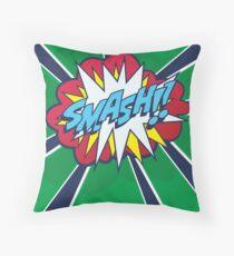 Comic Book Style SMASH! Throw Pillow