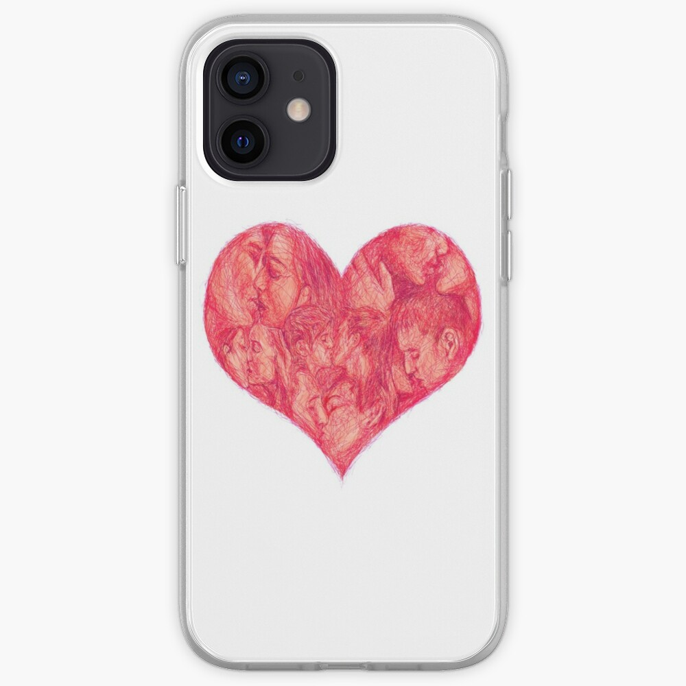 Kiss (White Background) iPhone Case & Cover