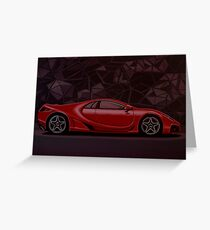 GTA Spano 2010 Painting Greeting Card