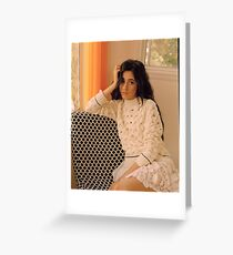Camila Cabello Wonderland Greeting Card