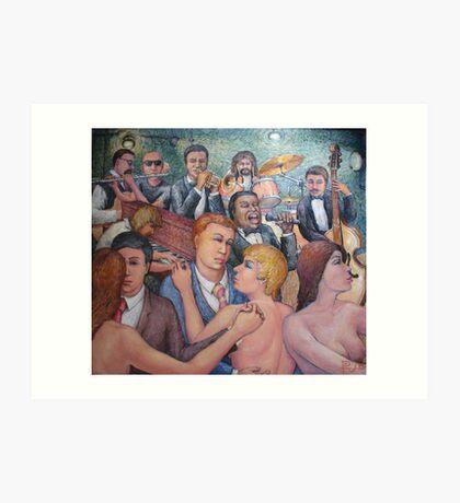 Men, Women and Music Art Print