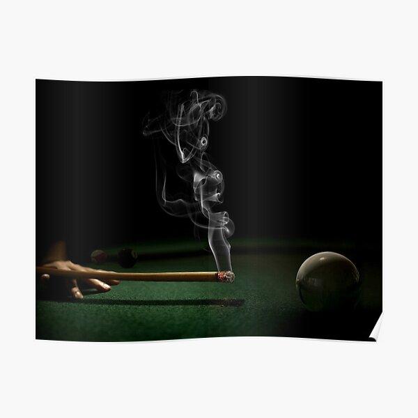 Smokin' Billiards Poster