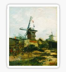 Vincent Van Gogh - Windmills at Montmartre. Sticker