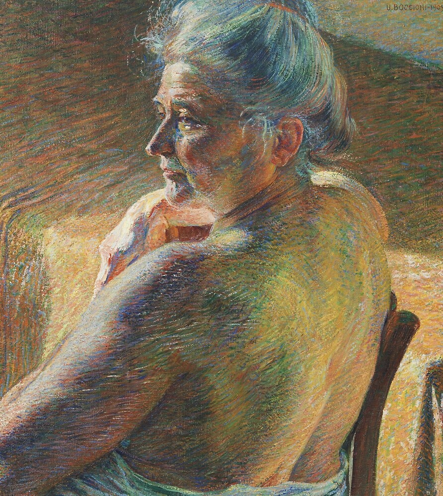 Nude from Behind by Umberto Boccioni by classicartcache