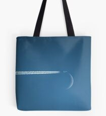 Playing Tag with the New Moon Tote Bag