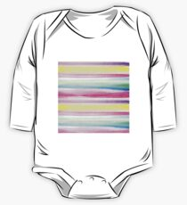 Modern abstract colorful watercolor stripe pattern One Piece - Long Sleeve
