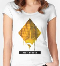 "Fifth Harmony - ""DOWN"" Ally Brooke Women's Fitted Scoop T-Shirt"