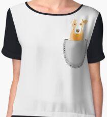 Pocket doggie  Women's Chiffon Top