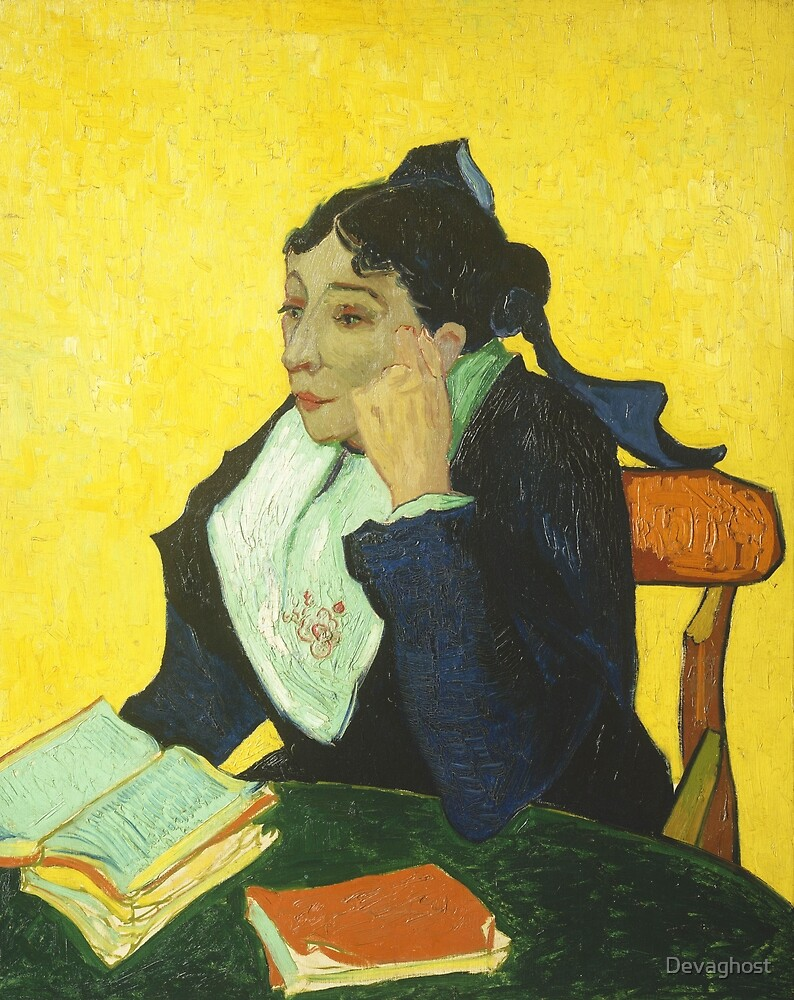 Vincent van Gogh - Portrait of Madame Ginoux. by Devaghost