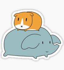 Guinea Pig and Elephant Sticker