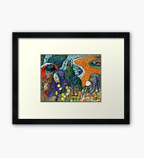 Vincent Van Gogh - Ladies of Arles. Framed Print