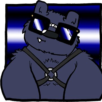 Nerd Kink - Leather Bear by SquareBearsComc