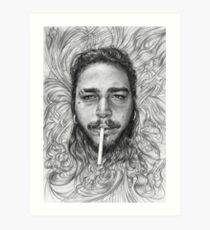 Post Malone BnW Art Print