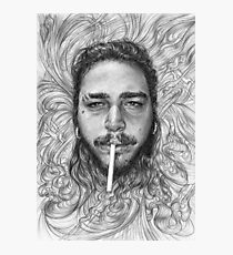 Post Malone BnW Photographic Print