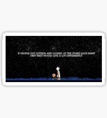 Calvin and Hobbes Night Sky Sticker Sticker
