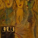 Three girls with yin and yang by catherine walker