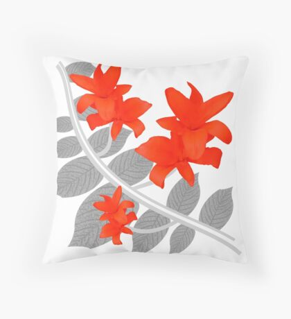 The Red Wanderers Story Throw Pillow