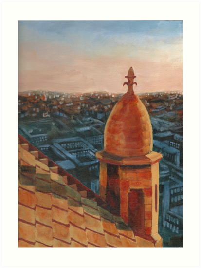 Late afternoon view from Sacre Coeur by vlchristensen