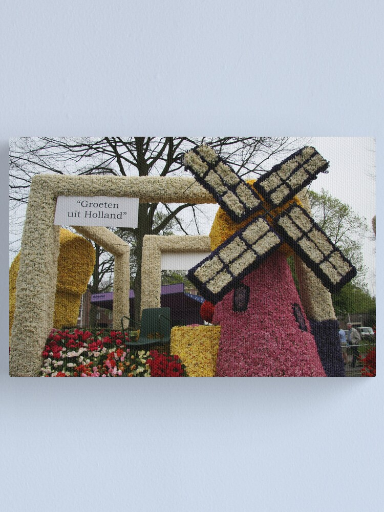 Alternate view of Flower Parade - Greetings from Holland Canvas Print