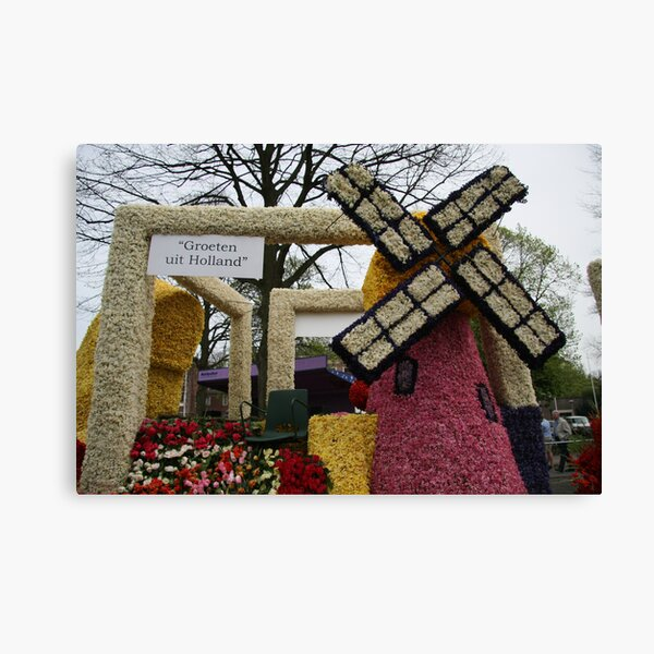 Flower Parade - Greetings from Holland Canvas Print