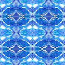 SPACE SOUP original acrylic painting, Trippy pattern, blue pattern, psychedelic pattern, fractal, geometric  by unusmundusart