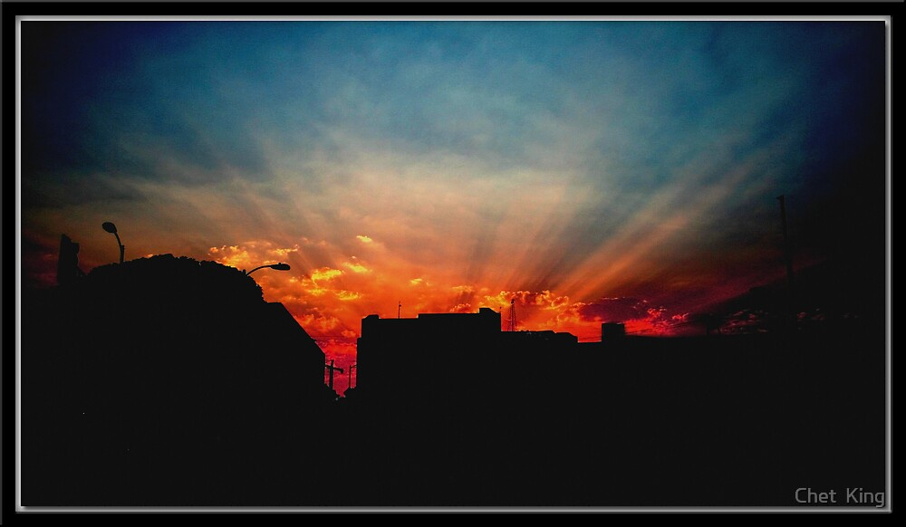 Downtown Sunset by Chet  King
