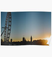London Skyline at Sunset  Poster
