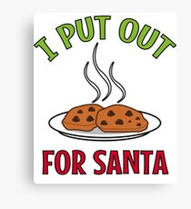 I Put Out For Santa Canvas Print