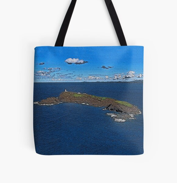 South Solitary Island Lighthouse 2 All Over Print Tote Bag
