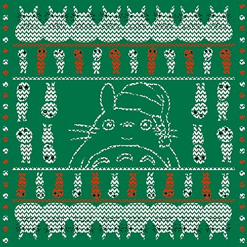 Totoro Christmas Sweater by tduffy