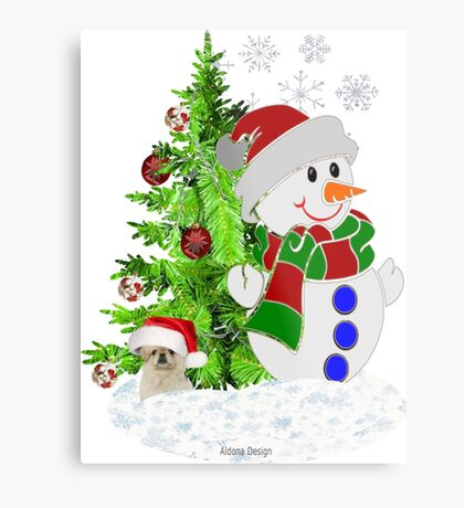 Lets build a Snowman ( 199 Views) Metal Print