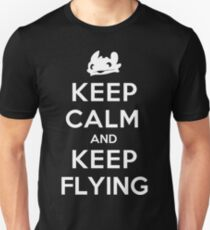 Keep Calm and Keep Flying (White) T-Shirt