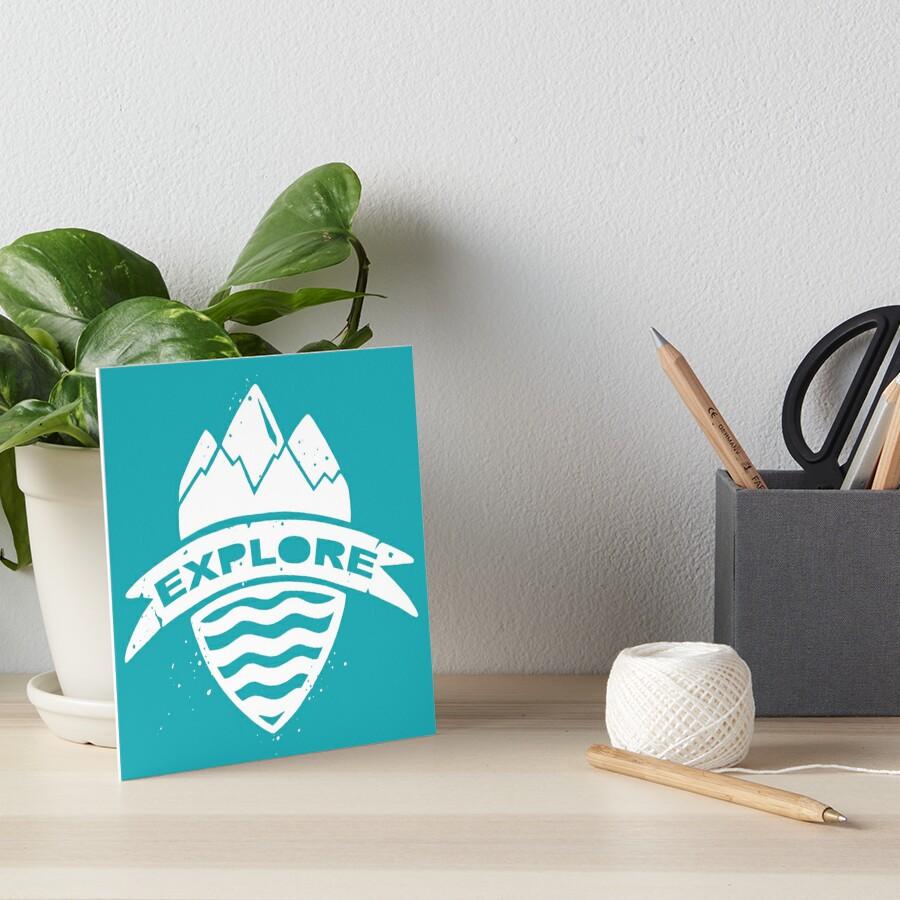 Explorer's Crest Art Board Print