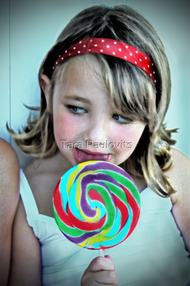 Little Girl with a Lollipop by Tara Paulovits