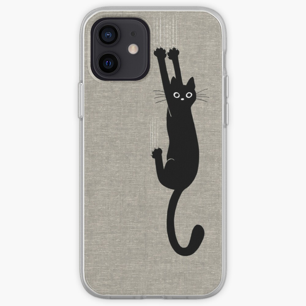 Black Cat Holding On iPhone Case & Cover