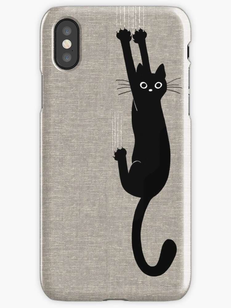 Black Cat Holding On by Jenn Inashvili