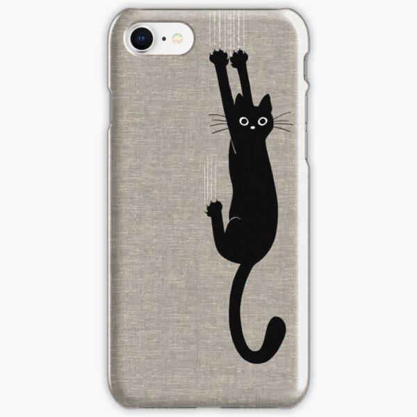 Black Cat Holding On iPhone Snap Case