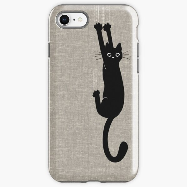 Black Cat Holding On iPhone Tough Case