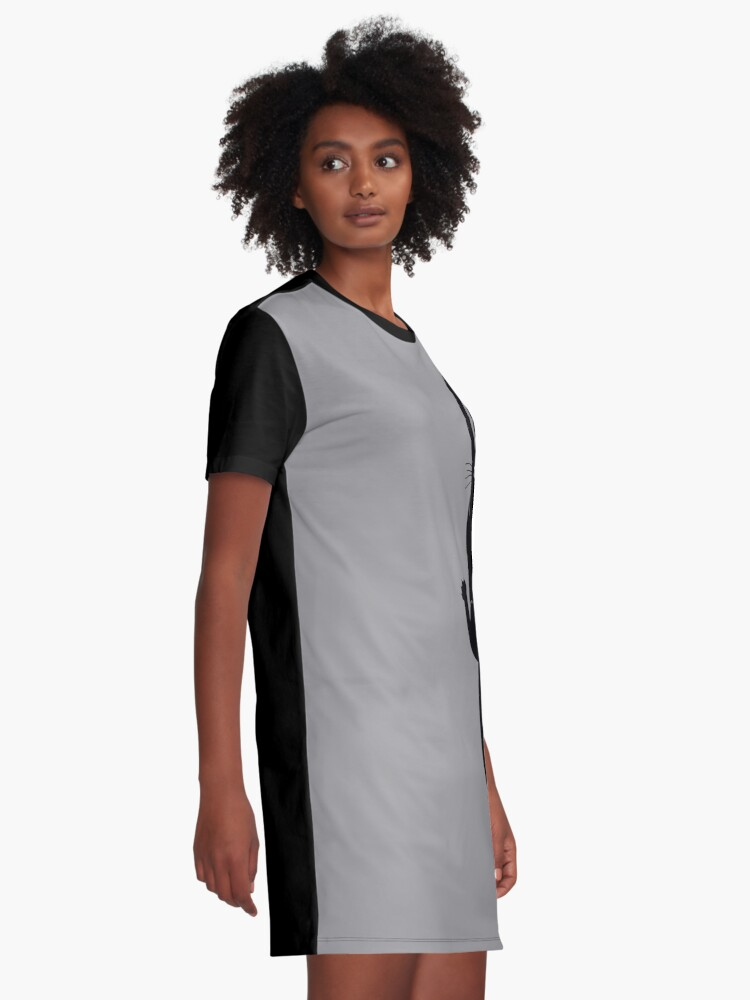 Alternate view of Black Cat Holding On Graphic T-Shirt Dress