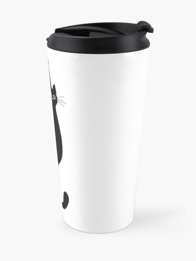 Alternate view of Black Cat Holding On Travel Mug