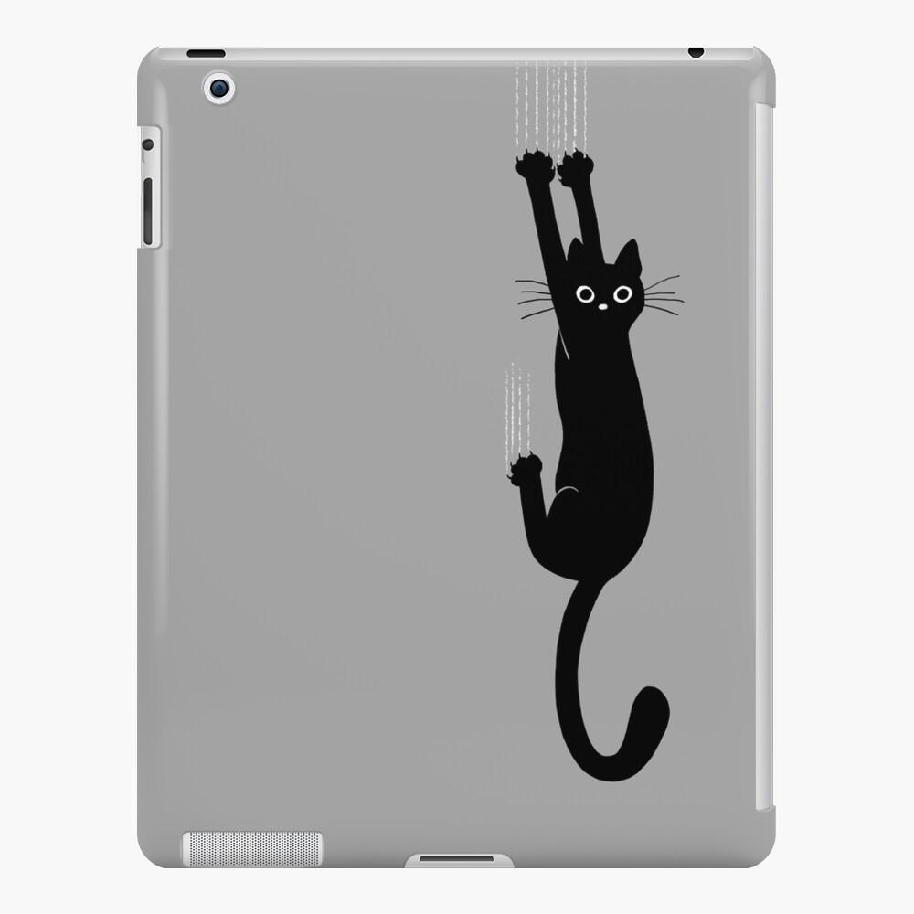 Black Cat Holding On iPad Case & Skin
