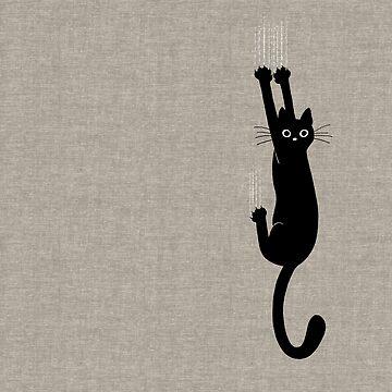 Schwarze Katze, die an hält von ShortCoffee