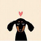 Dachshund Puppy Love by Jenn Inashvili