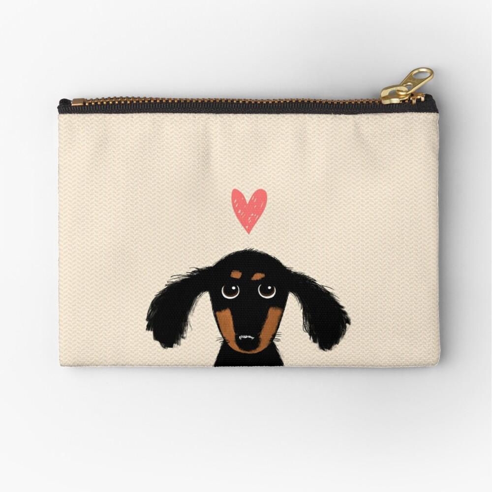 Dachshund Puppy Love Zipper Pouch