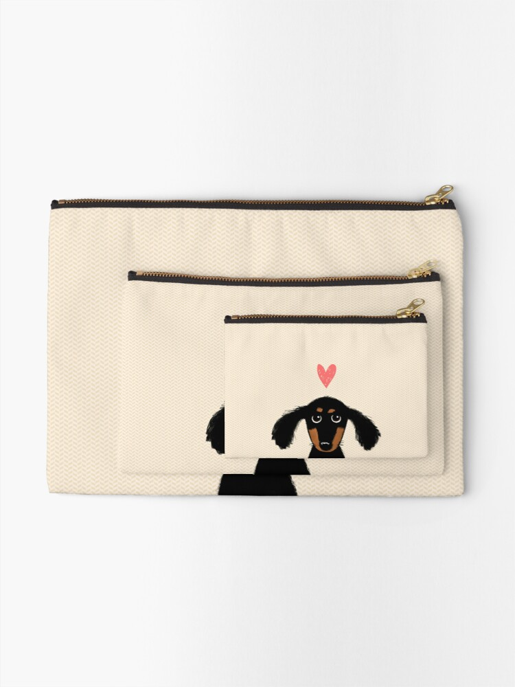 Alternate view of Dachshund Puppy Love Zipper Pouch