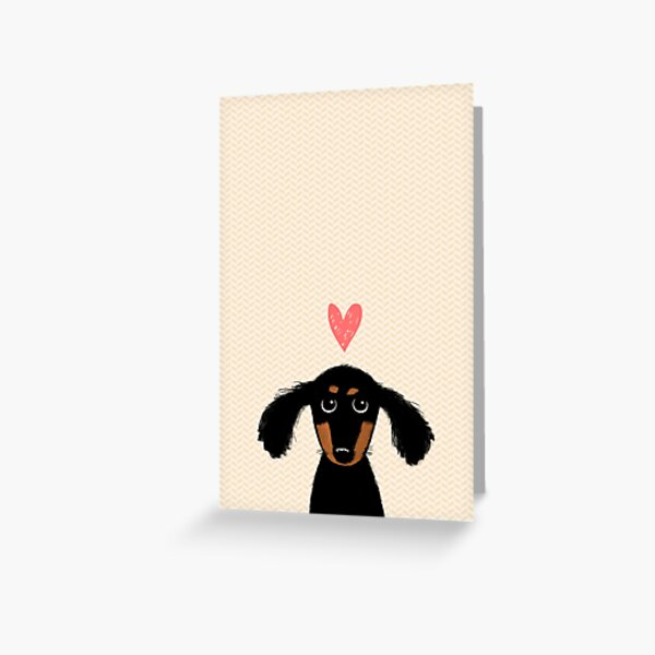 Dachshund Puppy Love Greeting Card