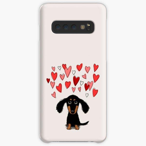 Cute Dachshund Puppy Dog with Valentine Hearts Samsung Galaxy Snap Case